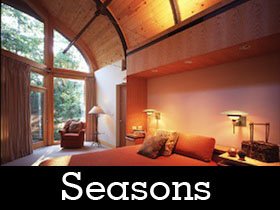 A photo of the interior of a SEASONS room.