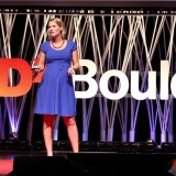 Megan Feldman speaking at TEDxBoulder.