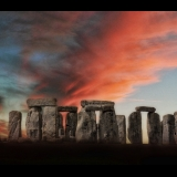Stone Henge at sunset