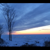 Lake Michigan in winter, Saugatuck