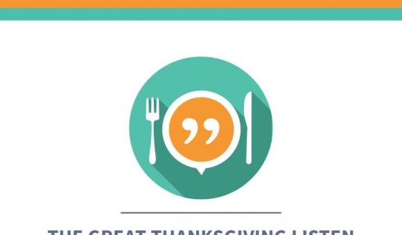 Dinner plate logo for StoryCorps' Great Thanksgiving Listen
