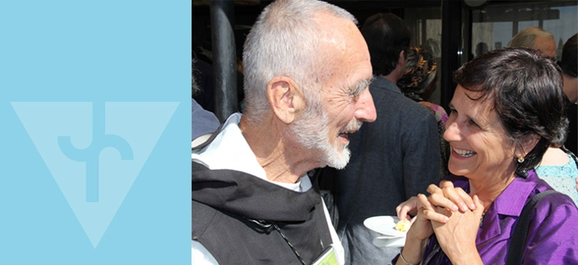 Brother David Steindl-Rast chats with Thais Corral