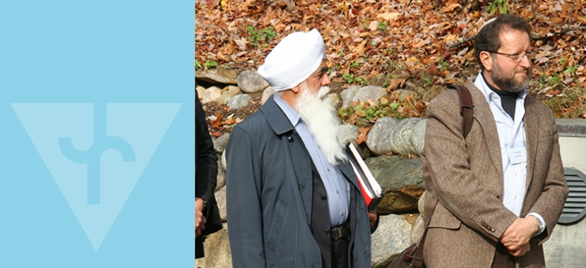 Bhai Sahib Mohinder Singh and Yehezkel Landau at a fall gathering