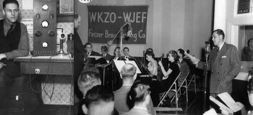 John Fetzer on the air in 1949