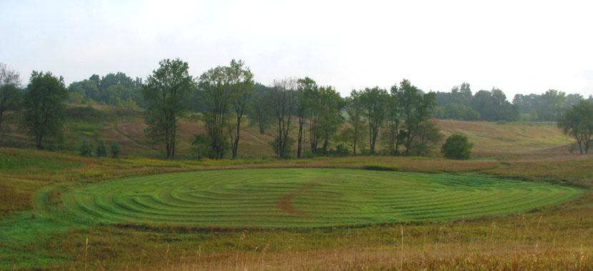 Photo of the labyrinth at GilChrist