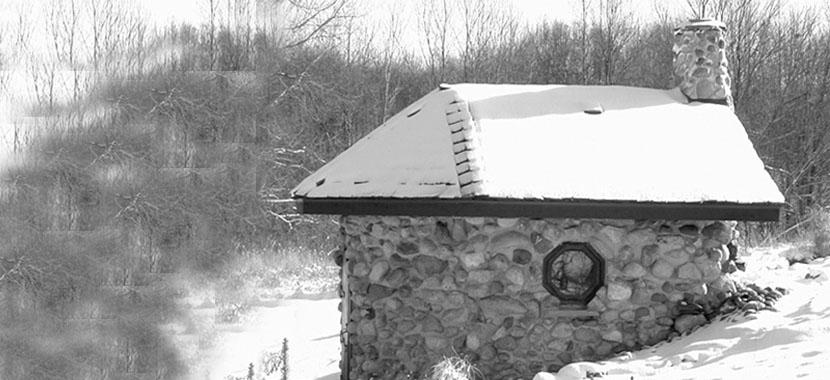 Fetzer chapel in winter.
