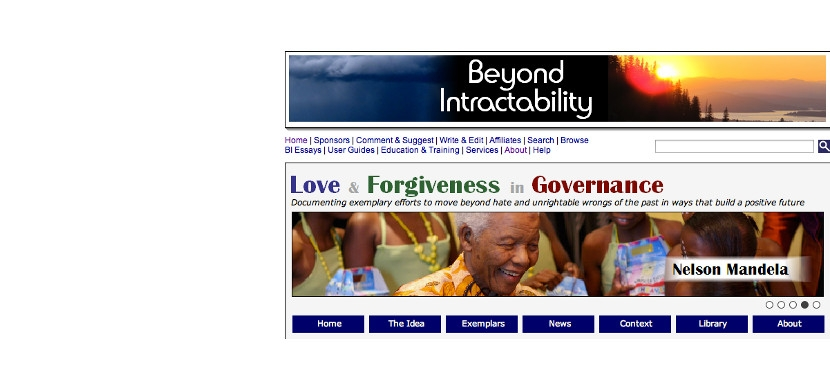 Beyond Intractability's Love and Forgiveness in Government site