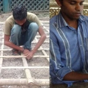 Team of students in India using bamboo for construction and furniture.