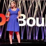Megan Feldman speaking at TEDxBoulder.