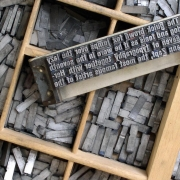 Typeset, words and letters