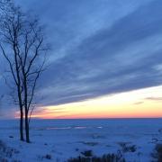 Lake Michigan in winter, Saugatuck