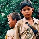 two young boys in Myanmar