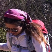 Blind hikers take part in a mountainous hike