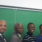 Participants in Morehouse College's Education, Ethics and Peace Building Certificate program in a classroom