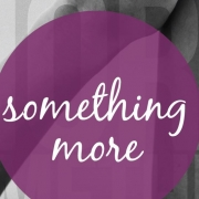 """""""Something More"""" in purple circle against a backdrop of held hands"""