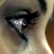 close up of a young woman's eye (profile)